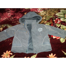 Campera Cheeky Azul Ideal Jardin Con Capucha De Algodon Xl