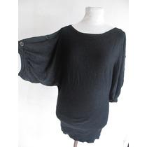 Fadma Sweter Moda Estilo Mariposa Negro Talle Unico Impecabl