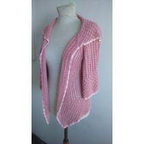 Fadma Saco Emme Tejido Super Suave, L Rosa Diseño Impecable
