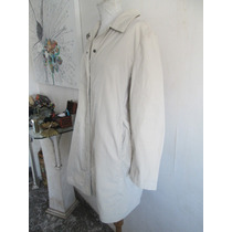 Fadma Trench Campera Algodon Larga Gap Beige Xl Impecable