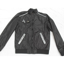 Campera Hombre Negra Nueva Impermeable Rompeviento Talle S