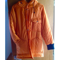 Campera Parka Impermeable Naranja Ideal Nieve Nautica