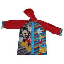 Mickey O Minnie Mouse Piloto De Lluvia + Paraguas Lic Orig