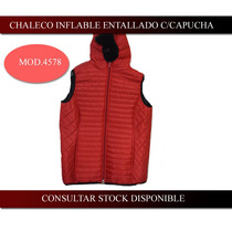 Chaleco Inflable Dama Con Capucha Excelente Calidad