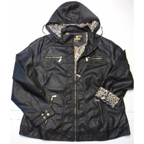 Campera Simil Cuero Talles Especiales (3xl A 6xl)
