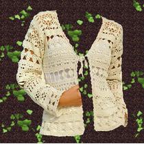 Saquito Tejido A Crochet Sin Forro