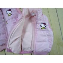 Chaleco Sin Mangas Abrigado Importado Hello Kitty Talle 6