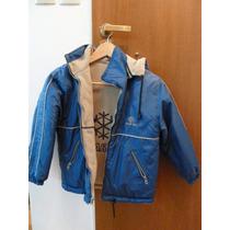 Campera Lacar Azul Y Beige - Reversible - Talle 10
