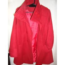 Saco De Mujer De Paño Rojo Divino!!!