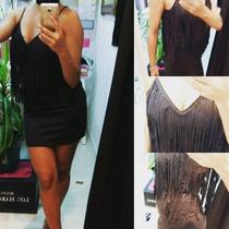 Vestido De Seda Print/ Crepe Rosa/flecos Gamuzado!