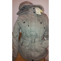 Campera Parka Trench Militar Gabardina Piel Yd Collection