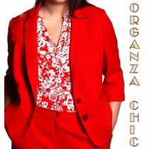 Blazer Mujer - Talles Especiales L Al Xxxl / Organza Chic