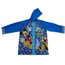 Mickey Mouse Piloto De Lluvia + Paraguas Lic Orig