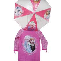 Piloto + Paraguas Fozzen Princesas Disney Original Premium