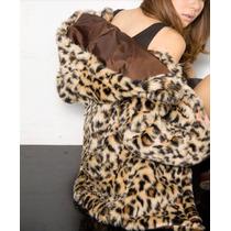 Tapado Abrigo Mujer Importado Piel Animal Print Leopardo