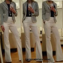Blazers Saco Mujer Importado Vestir Algodón Lisos