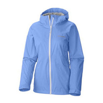 Campera Columbia Evapouration Mujer Harbour Blue Impermeable