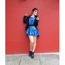 Vestido De Mujer Azul Electrico, Dark Series, Villalba