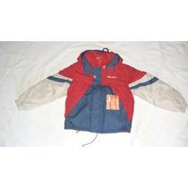 Campera De Abrigo Para Niños -interior Polar C/capucha-t.4
