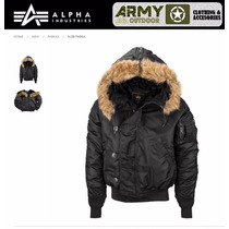 Campera Alpha Aviadora N2b Original Parka Corta Mod Ma1 M65