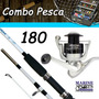 Combo De Pesca 1,80 M Caña + Reel + Kit De Líneas Y Más
