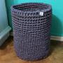 Cesto Tejido Al Crochet De Ropa Sucia. Lavable! 30x40cm
