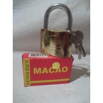 Candado Bronceado 50mm Con 3 Llaves Macao