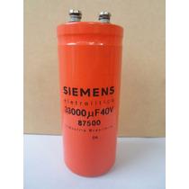 Capacitor Electrolítico Blindado 33000uf 40vdc - Siemens