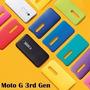 Tapa Trasera Carcasa Colores P/ Motorola Moto G3