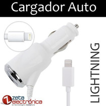 Cargador Auto Lightning Iphone 5s Iphone 6 Ipad Mini 8 Pin
