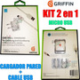 Cargador Griffin + Cable Usb P/ Samsung Note Grand Trend Win