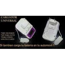 Cargador Externo Bateria Celular Mp3 Lcd Usb + 12v Para Auto