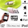 Cable Usb Iphone 5 & 6 / Ipod / Ipad Ficha Metálica 1.00m