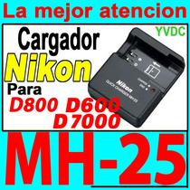 Cargador Nikon Mh-25 D7000 D7100 D600 D610 D800 Original