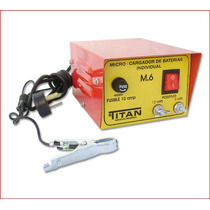 Cargador De Baterias Titan M-6 Para 6 Y 12 Volts Gtia.1 Año