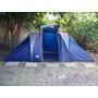 Carpa Con Habitaciones Y Comedor + Bolso. Camping O Pesca