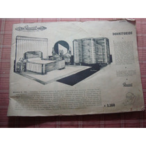 Antiguo Catálogo Muebles Casa Gicovate Cama Silla Dormitorio