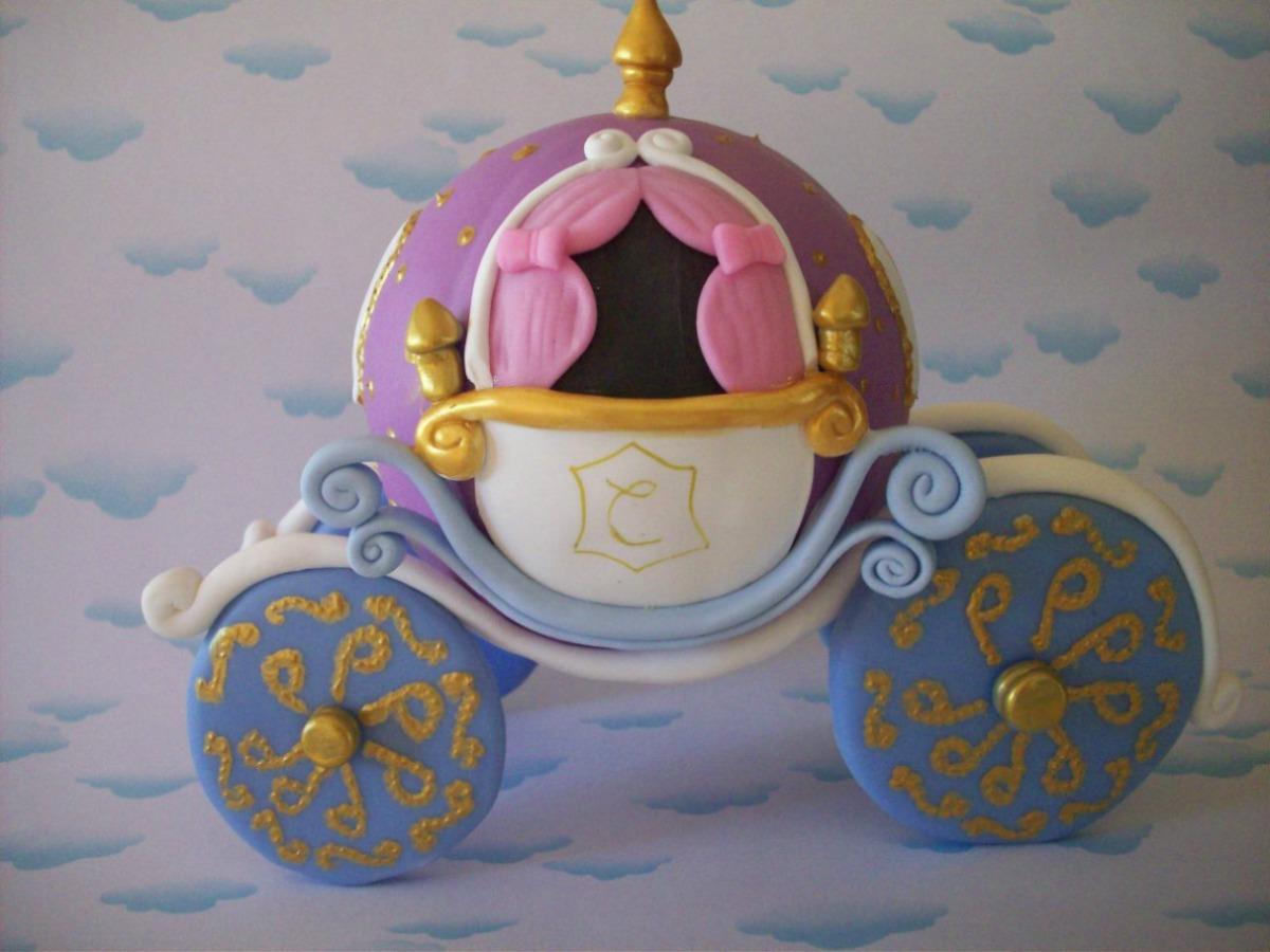 Carroza Cenicienta Princesas Porcelana Fria - $ 250,00 en MercadoLibre