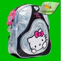 Mochila Hello Kitty Mediana. Licencia Original. Corazón