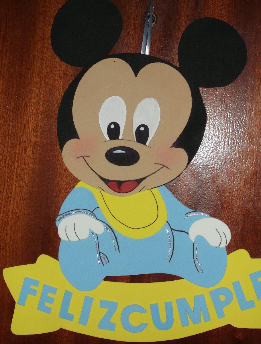 Cartel Cumpleaños -mickey | Minnie Bebe - Goma Eva 46 X 39cm ...