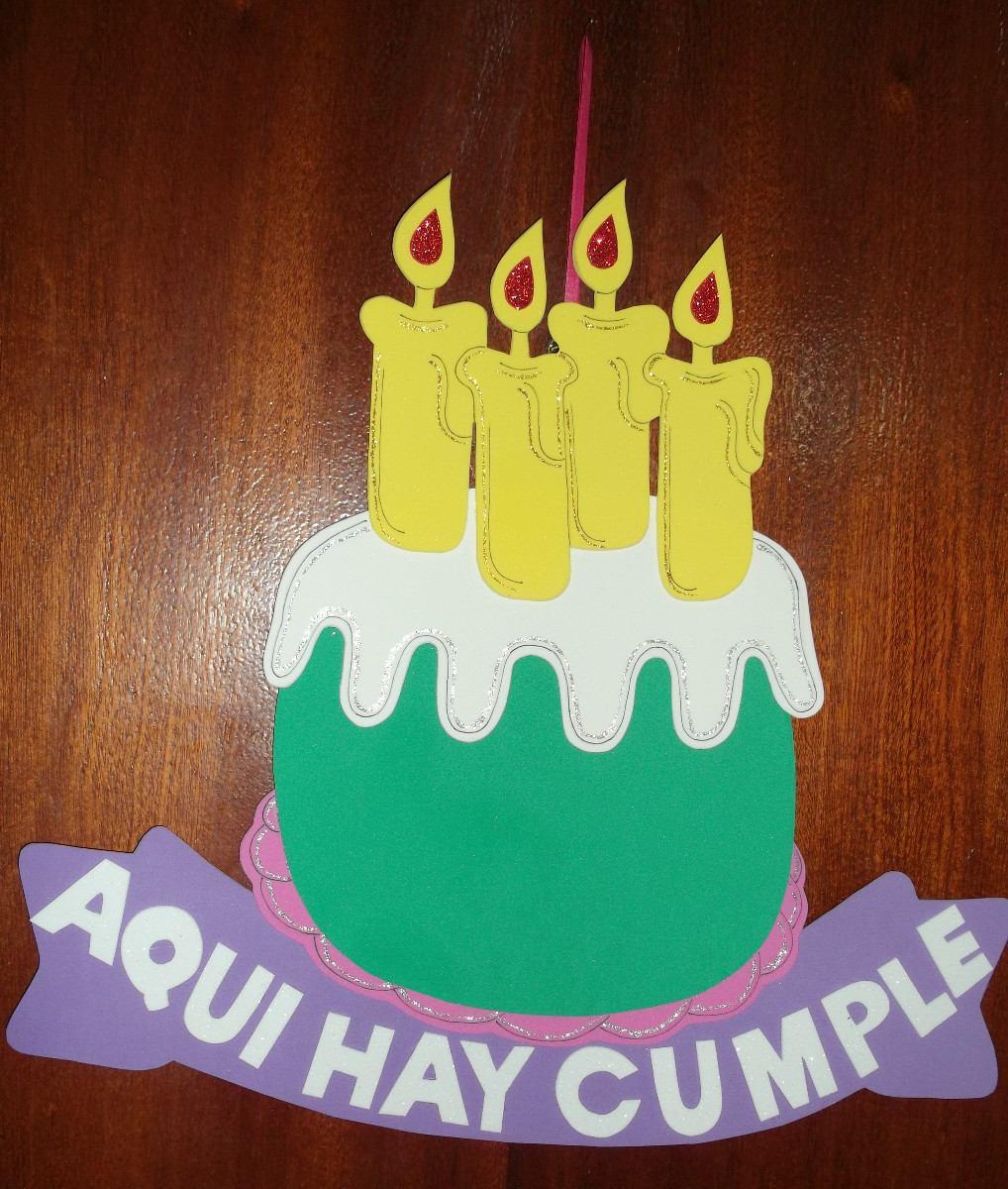 Feliz Cumple goliva68 Cartel-cumpleanos-torta-cumpleanos-goma-eva-47-x-42-cm-15174-MLA20096972065_052014-F