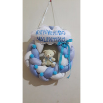 Cartel De Bienvenida Rosca Bebe Nacimiento Puertapersonaliza