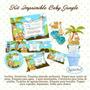 Kit Imprimible Baby Jungle Diseñá Tarjetas Invitaciones Png