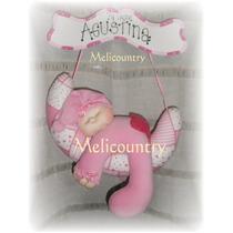 Muñecos Country-soft Delicado Cartel De Bienvenida Bebè