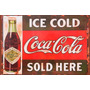 Carteles Antiguos En Chapa Gruesa 20x30cm Coca Cola Dr-001