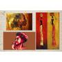 Cuadro Impreso Cuerina Paisajes Etnicos Abstractos 40x70