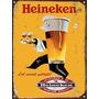 Carteles De Chapa Publicidad Cerveza Heineken No Es Vinilo