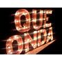 Letras Luminosas De Madera-simbolos-carteles -deco Eventos