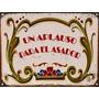 Cartel De Chapa Vintage Un Aplauso Para El Asador