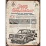 Cartel De Chapa Vintage Jeep Gladiator B238 No Es Vinilo